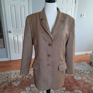 Missoni Houndstooth check brown wool blazer